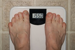 Feet On Weight Loss Scale